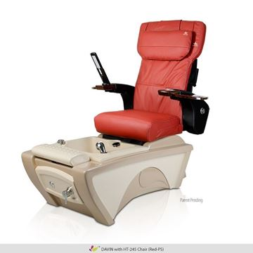 Davin pedicure spa with Human Touch HT-245 red cushion