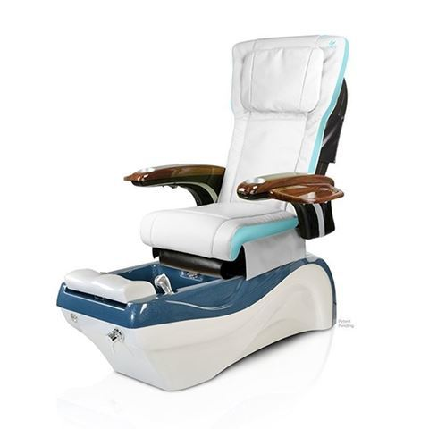 Waverly pedicure chair with tiffany blue & ivory P20 massage system
