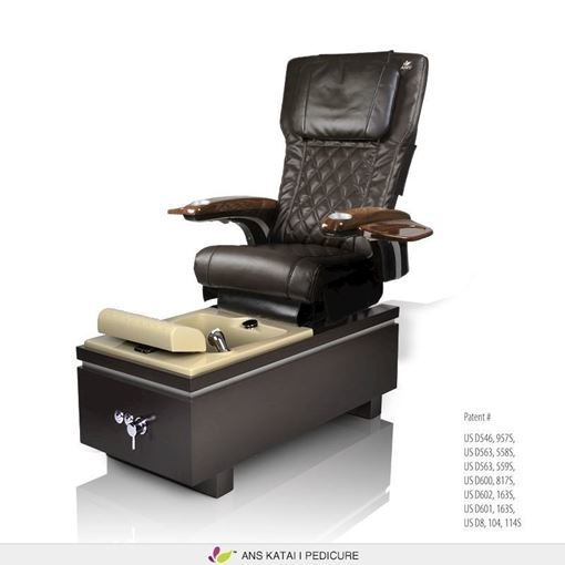 Katai 1 pedicure chair with espresso ANS P20 massage system
