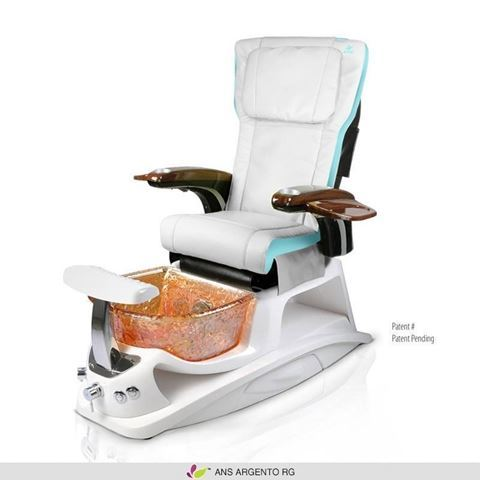 Argento pedicure spa with tiffany blue & ivory ANS P20 massage chair