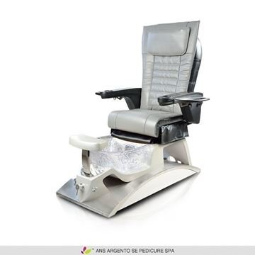 Argento SE pedicure spa with grey ANS P16 massage chair