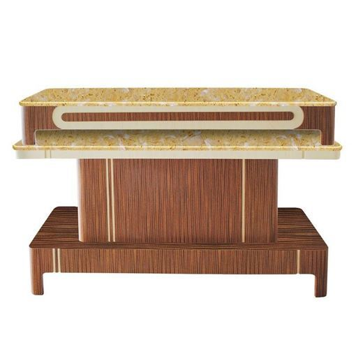 Verona 2 nail dryer table with yellow marble top