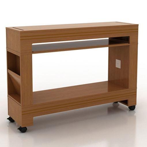 Sedona nail dryer table in dark wood color