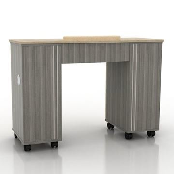 Alera nail table in grey color front view