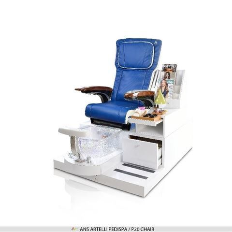 Artelli spa bench with navy blue & ivory ANS P20 massage chair