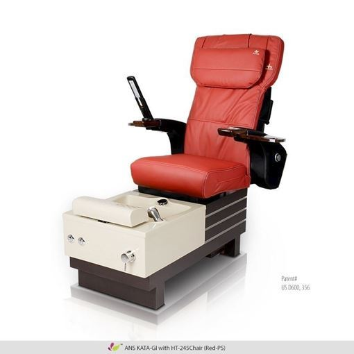 Kata-Gi pedicure spa with red Human Touch HT-245 massage chair