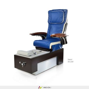 Ion 1 pedicure spa with navy blue & ivory ANS P20 massage chair