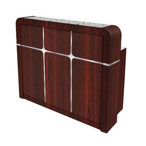 Avon reception desk rectangular shape with grey marble top