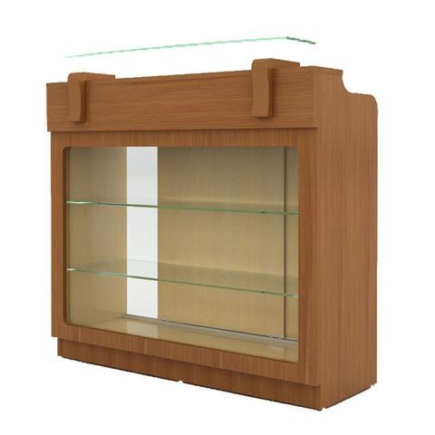 AYC Sedona reception desk with front glass display