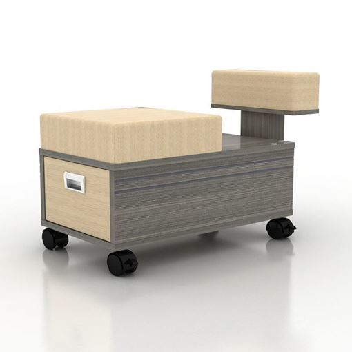 grey laminate Alera pedicure cart