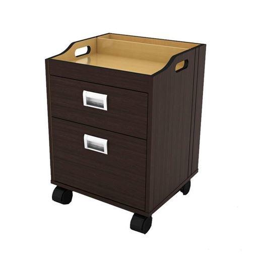 Berkeley pedicure trolley in dark wood veneer