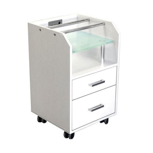 White Glasglow pedicure trolley