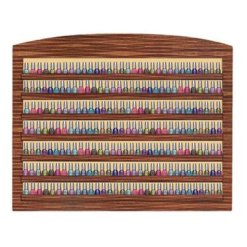 dark oak laminate Verona II nail polish rack