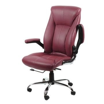 burgundy Avion guest chair