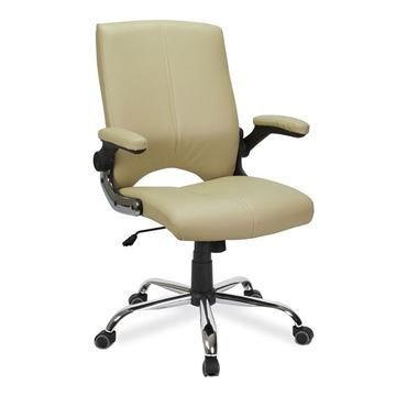 cream vinyl Versa customer chair