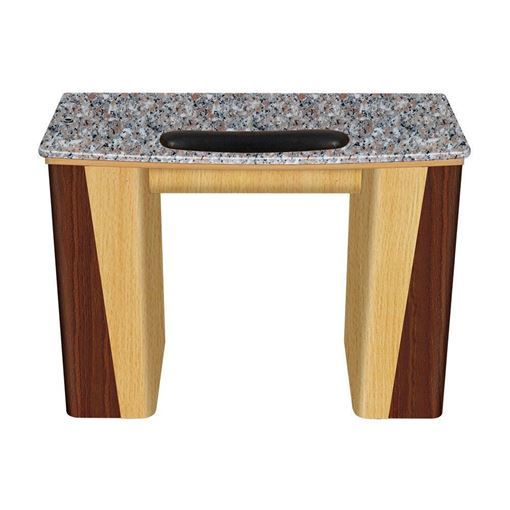cherry & amber maple with grey marble top VL-100 nail table