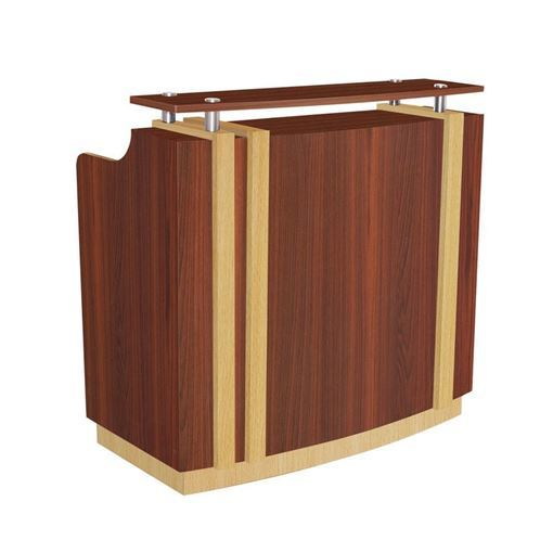front view of cherry laminate VL200 reception desk