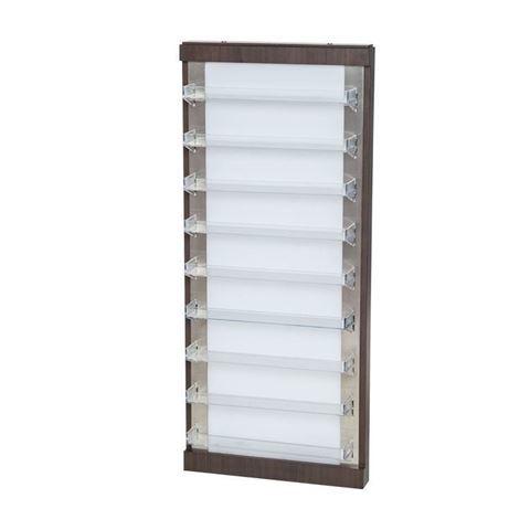 white and dark laminate PSD NV-610 wall polish rack