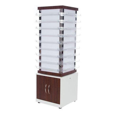 white & dark walnut laminate PSD NV810 nail polish cabinet