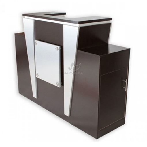 cafelle & aluminum laminate Voltron reception desk