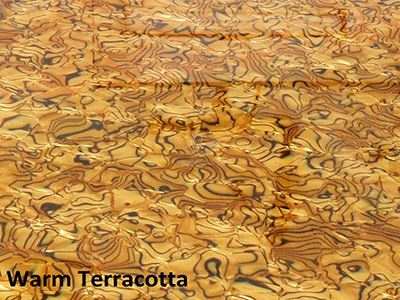 Warm terracotta