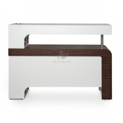 white & rosewood Beniko quick dry table