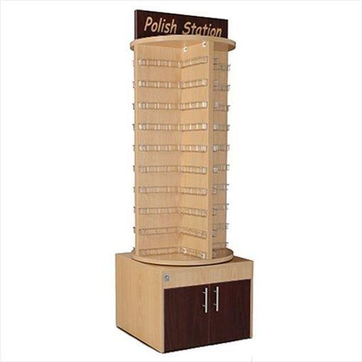 oak & mahogany Deluxe Wooden Rotary nail polish stand