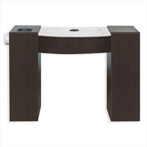 Cafelle laminate IMC vented nail table with white marble top