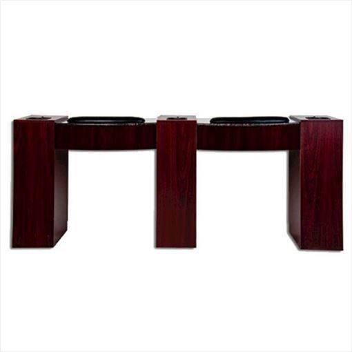 mahogany IMC Double Vented nail table