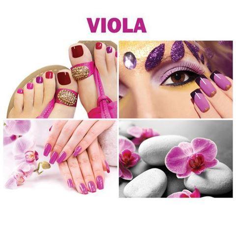 four beautiful Viola canvas murals