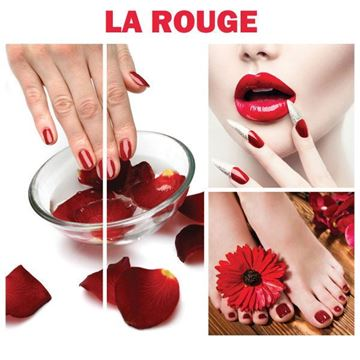 4 piece set of La Rouge canvas murals