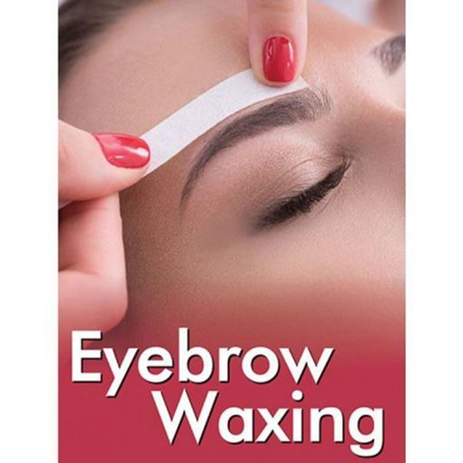 """small sizes 24"""" x 36"""" H13 Eyebrow Waxing holographic window decal"""