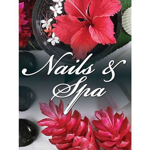 "small size 24"" x 36"" H9 window decal for nails and spas"