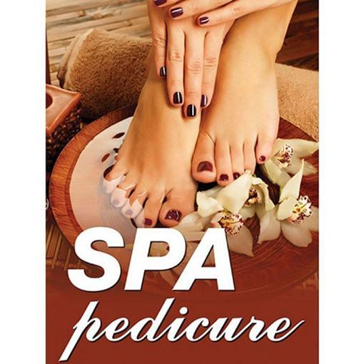 small size 24 x 36 inch H2 Spa Pedicure window decal