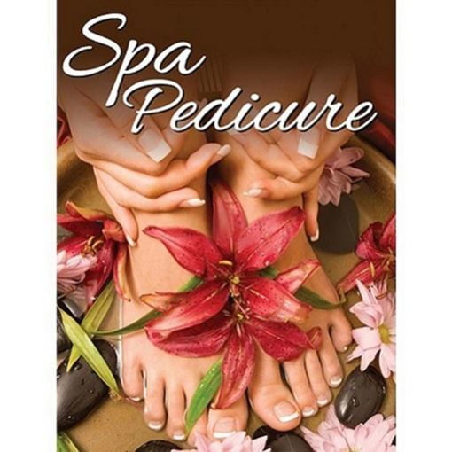 spa pedicure H3 window decal