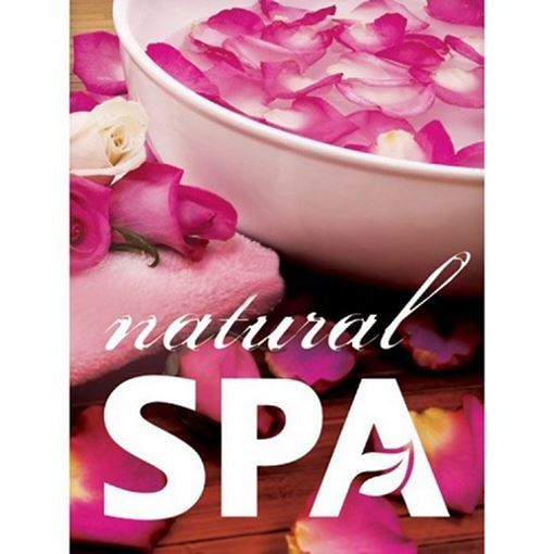 A3 natural spa window decal with pink roses