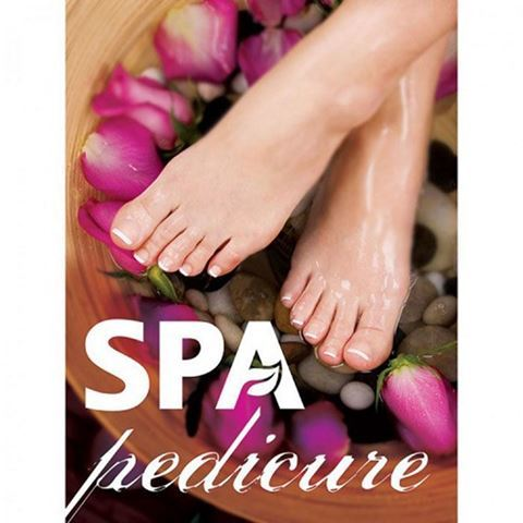 A4 window decal with roses for spa pedicure