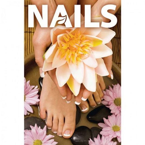 A9 window decal for nail salon