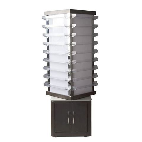 dark walnut VM810 rotating polish rack