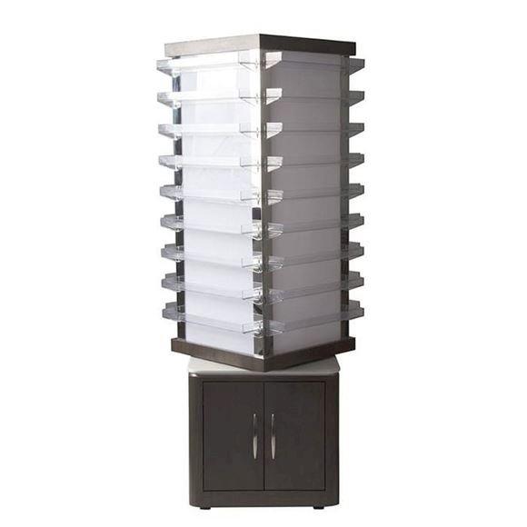 dark walnut VM810 rotating polish rack