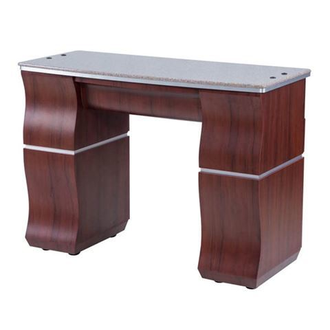 sedona red VP310 Prive nail table with brown marble top