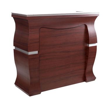 sedona red with brown marble top VP510 Prive reception counter