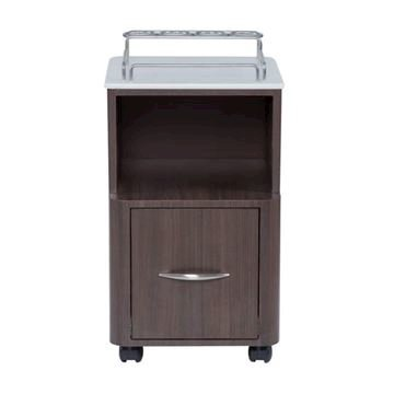 front view of dark walnut VM410 Modern pedi part