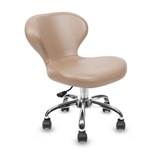 acorn leather Classic curved pedicure stool