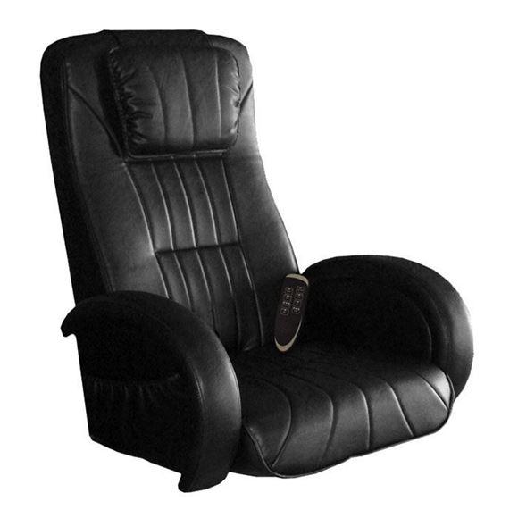 black vinyl leather hiatsulogic CX massage chair
