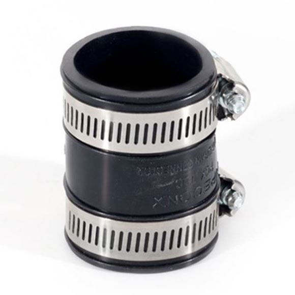 Gulfstream GS4103 black rubber coupling with c-clamps