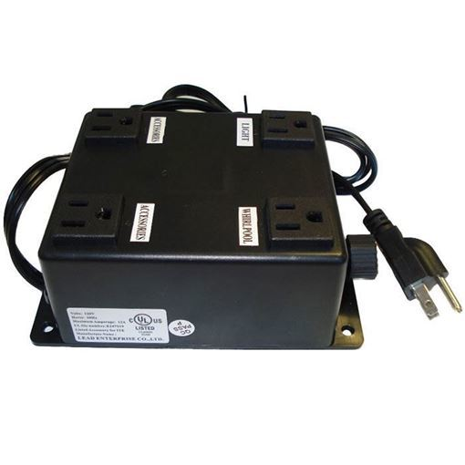 Black 4 plug electrical box for nail chair