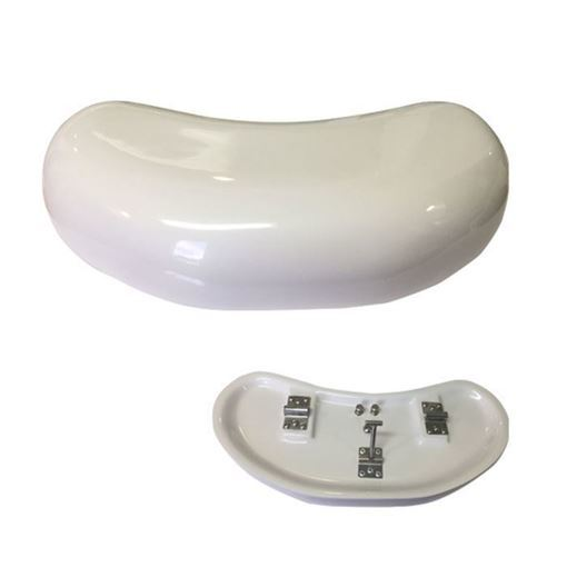 white color fiberglass footrest for Cloud 9 pedicure chair