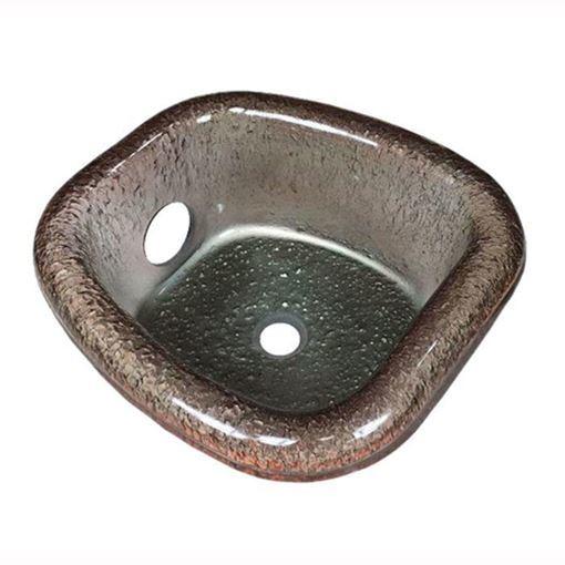 amber PSA Angel glass bowl