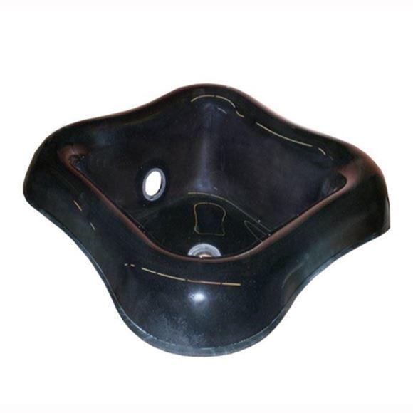 black Cloud 9 glass bowl